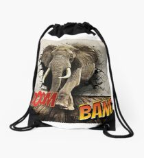 Éléphant Drawstring Bag