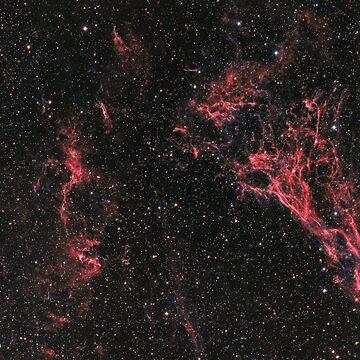 Pickering's Triangle nebula and NGC 6974 nebula in constellation Cygnus by LukeSzczepanski
