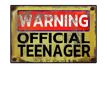 Teenager Shirts and Apparel Warning Official Teenager T Shirt Funny 13th Birthday top selling  by Limeva