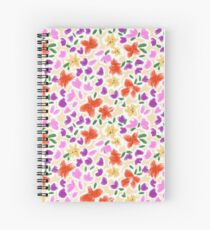 Coral flowers to take to the beach Spiral Notebook