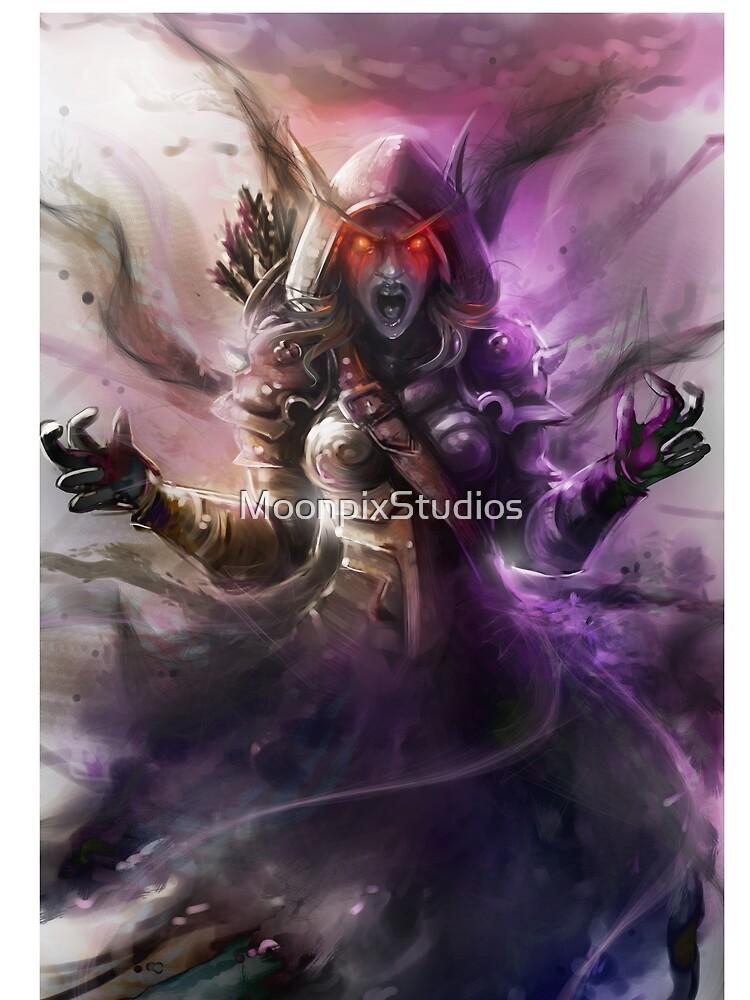 The Banshee Queen Sylvanas, Warcraft Fanart by MoonpixStudios