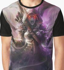 The Banshee Queen Sylvanas, Warcraft Fanart Graphic T-Shirt