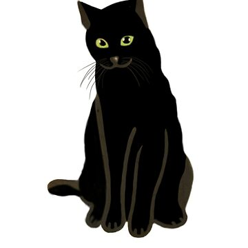 Black Cat with Green Eyes  by dukito