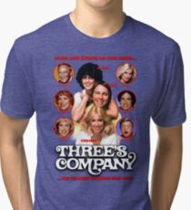 THREE'S COMPANY Come and knock on our door Tri-blend T-Shirt
