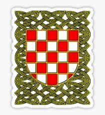 Croatian crest with the pleter decorations Hrvatska Sticker
