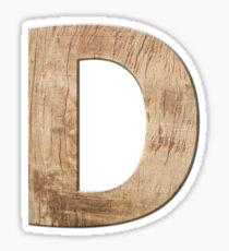 Alphabet  Zeichen Buchstabe D Sticker