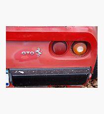 The art of the car: Ferrari 1984 GTO Berlinetta Tail Photographic Print