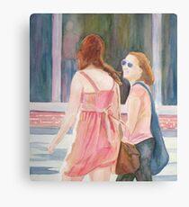 Summer Shoppers Canvas Print