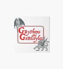 Gryphons and Gargoyles  Art Board