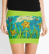Sunlit Summer Field Mini Skirt