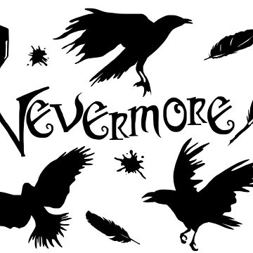 Edgar Allen Poes The Raven Nevermore Illustration by MelancholyDoll