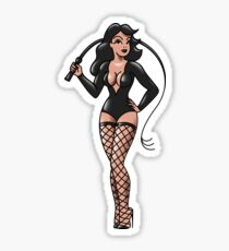 BDSM Dominatrix Pin-up Sticker