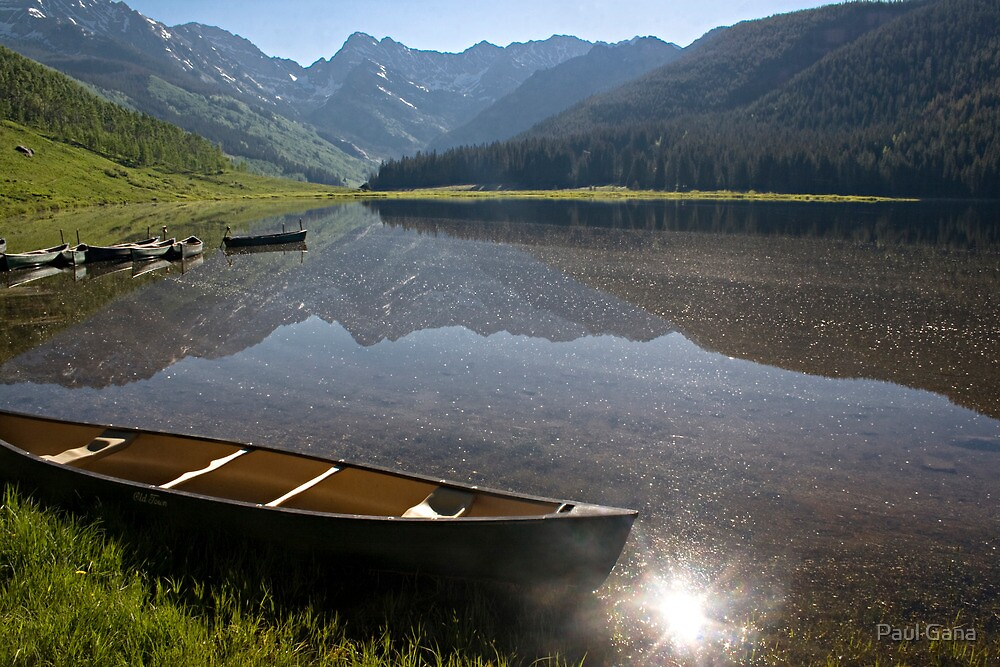 Piney Lake in the morning by Paul Gana