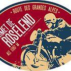 Cormet De Roselend 04 Motorycle T-Shirt + Sticker - Route des Grandes Alpes by ROADTROOPER