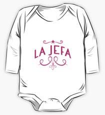 La Jefa weiblicher Chef Geschenk Boss Day Geschenk Langärmeliger Einteiler