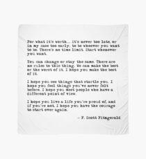 Für was es wert ist - F Scott Fitzgerald-Zitat Tuch