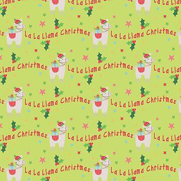 Christmas llamas II by peggieprints