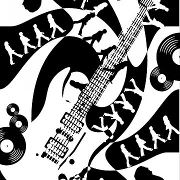 While My Guitar Gently Weeps by EmilyPaints