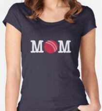 Funny Cricket Mom Shirt - Perfect Cricket Mom Hoodie - Perfect Gift Women's Fitted Scoop T-Shirt