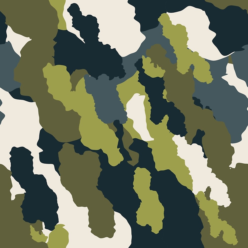 Camouflage print.  by AniaMironova