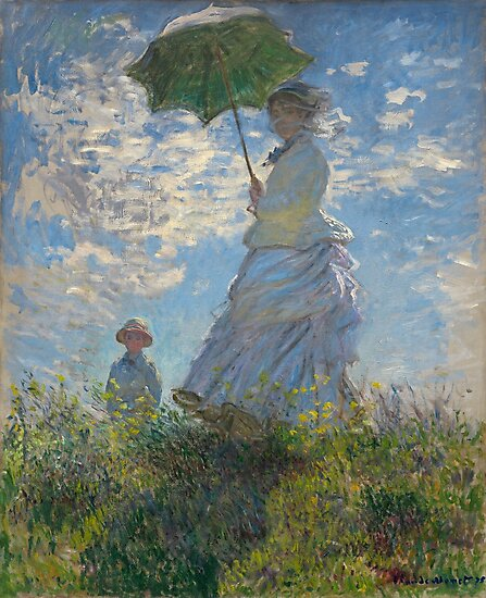 Claude Monet Woman with a Parasol Madame Monet and Her Son  by goodcitizen