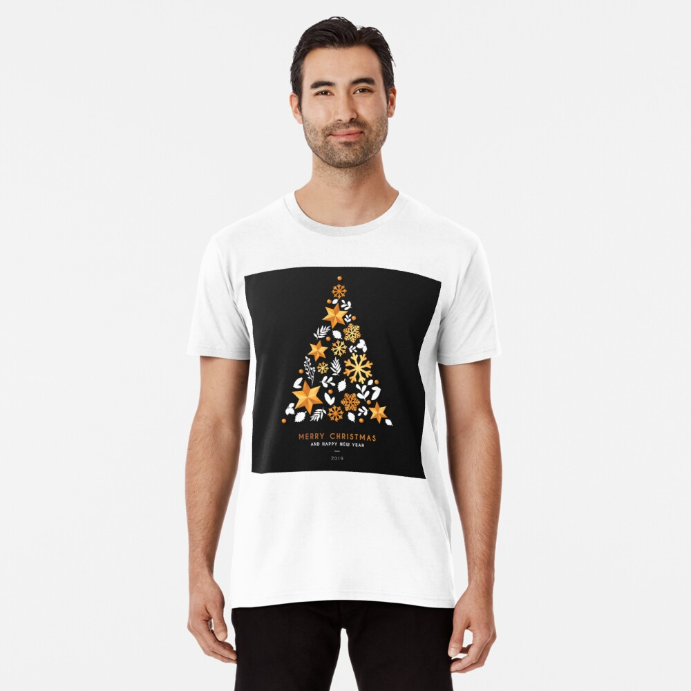 Christmas and Happy New Year 2019 Men's Premium T-Shirt Front
