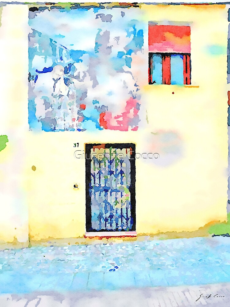 Door windows and murales by Giuseppe Cocco