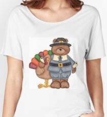 Teddy Pilgrim And Turkey Women's Relaxed Fit T-Shirt