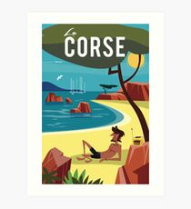 La Corse travel poster Art Print