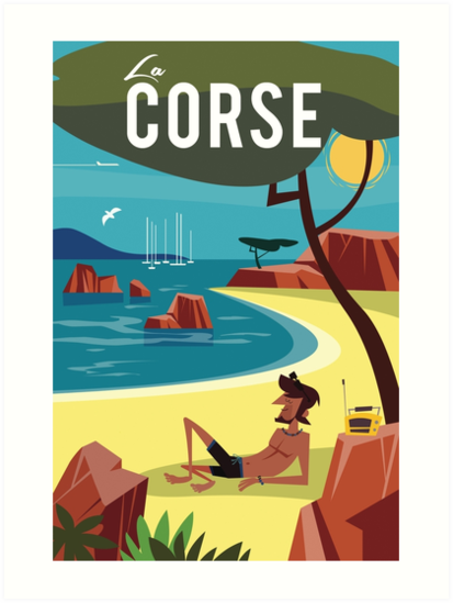La Corse travel poster by Gary Godel