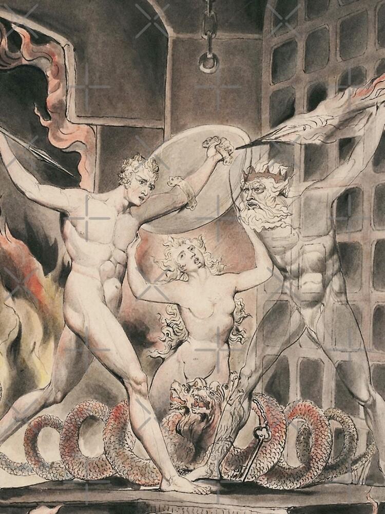 Illustration to Milton`s Paradise Lost-William Blake by LexBauer