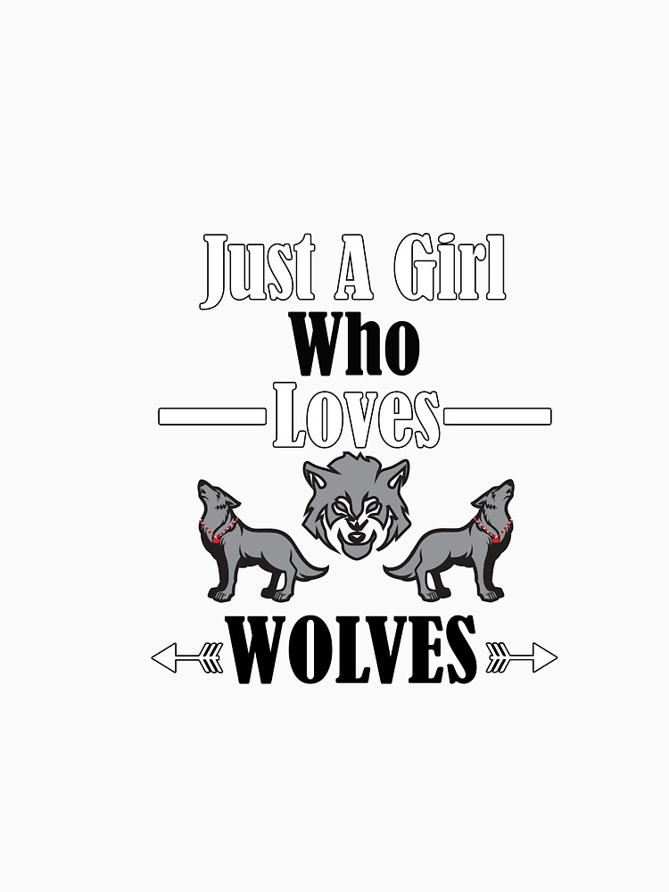 girl who likes wolves t shirt  by tengamerx