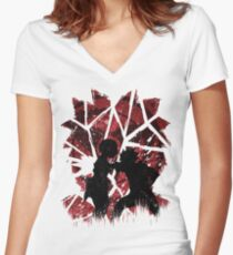 Obito Women's Fitted V-Neck T-Shirt
