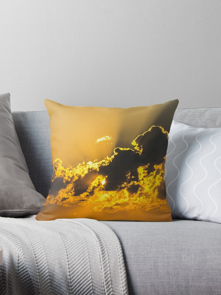 Yellow Clouds art design by JamesPodStore