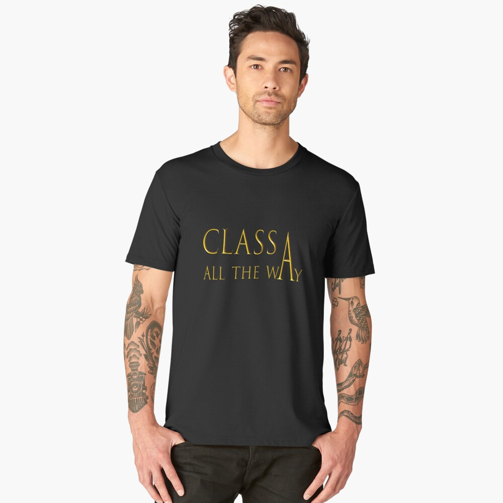 For the Classy RVer; Class A Men's Premium T-Shirt Front