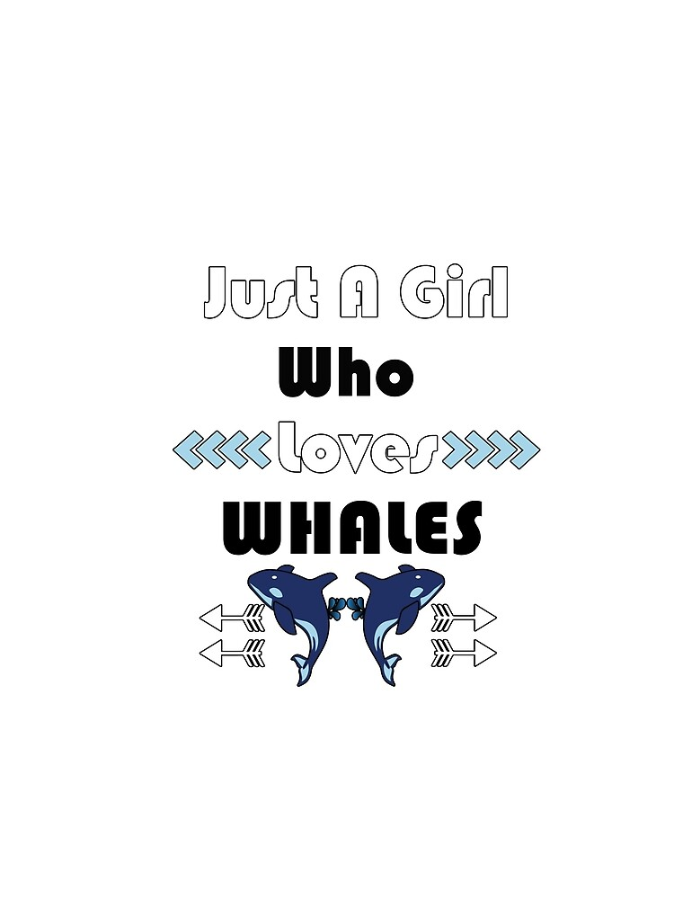 girl who likes whales T shirt  by tengamerx