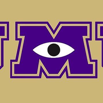 JMU / Monsters University Parody Logo - Purple and Gold by obiwayne