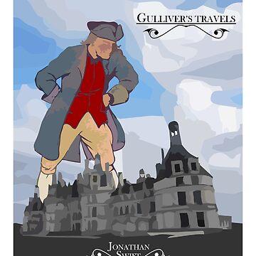 Gulliver Travels T-shirt Jonanthan Swift by Vidallz