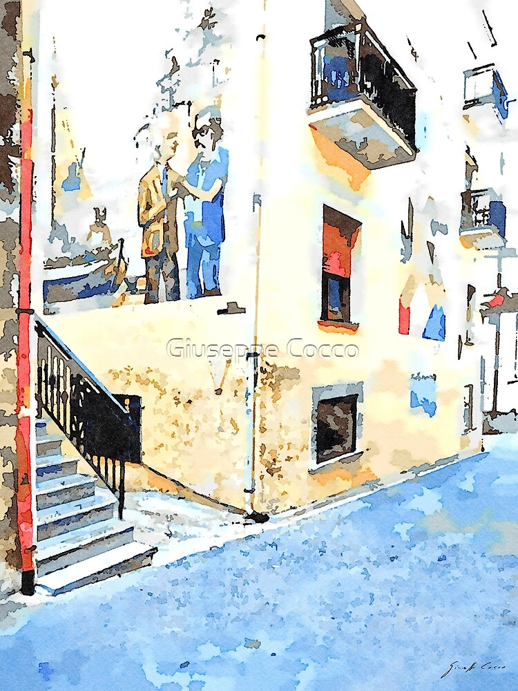 Foreshortening with murales by Giuseppe Cocco