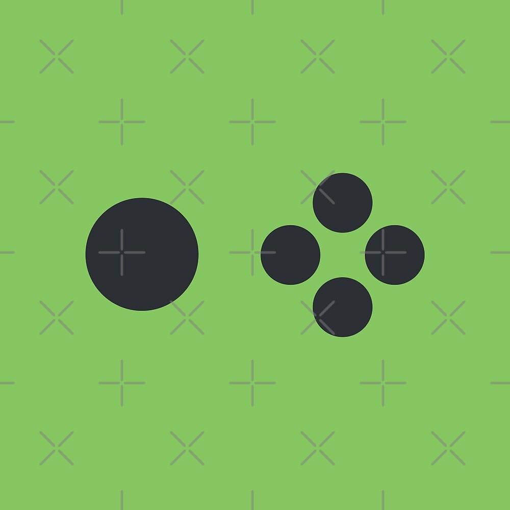 Joyful Controller Buttons - Green by Pop-Fiction
