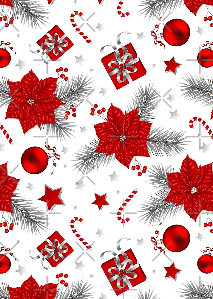 Christmas decoration pattern by Katerina Kirilova
