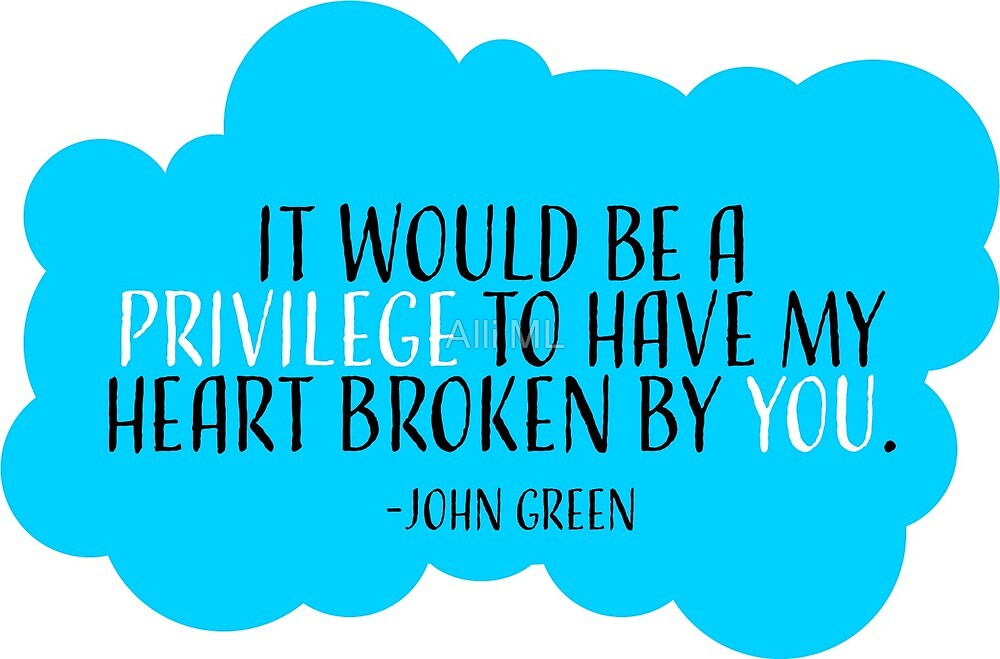 Fault In Our Stars Quote John Green  by DC Teen