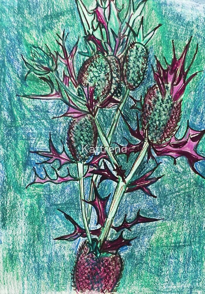 Blue Thistles by Kattrend