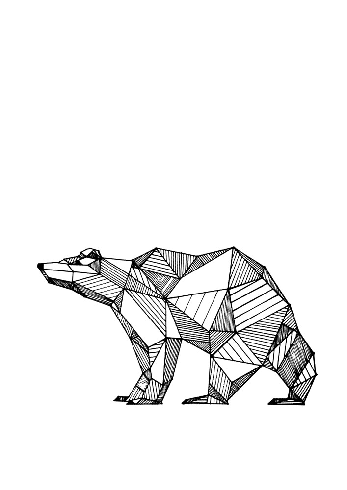 Geometric Bear by airherc