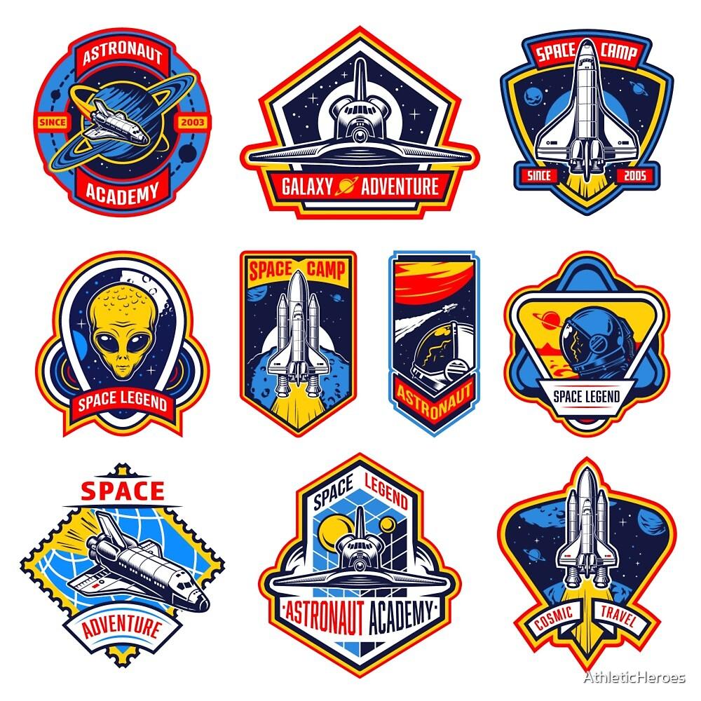 Space Vintage Emblems by AthleticHeroes