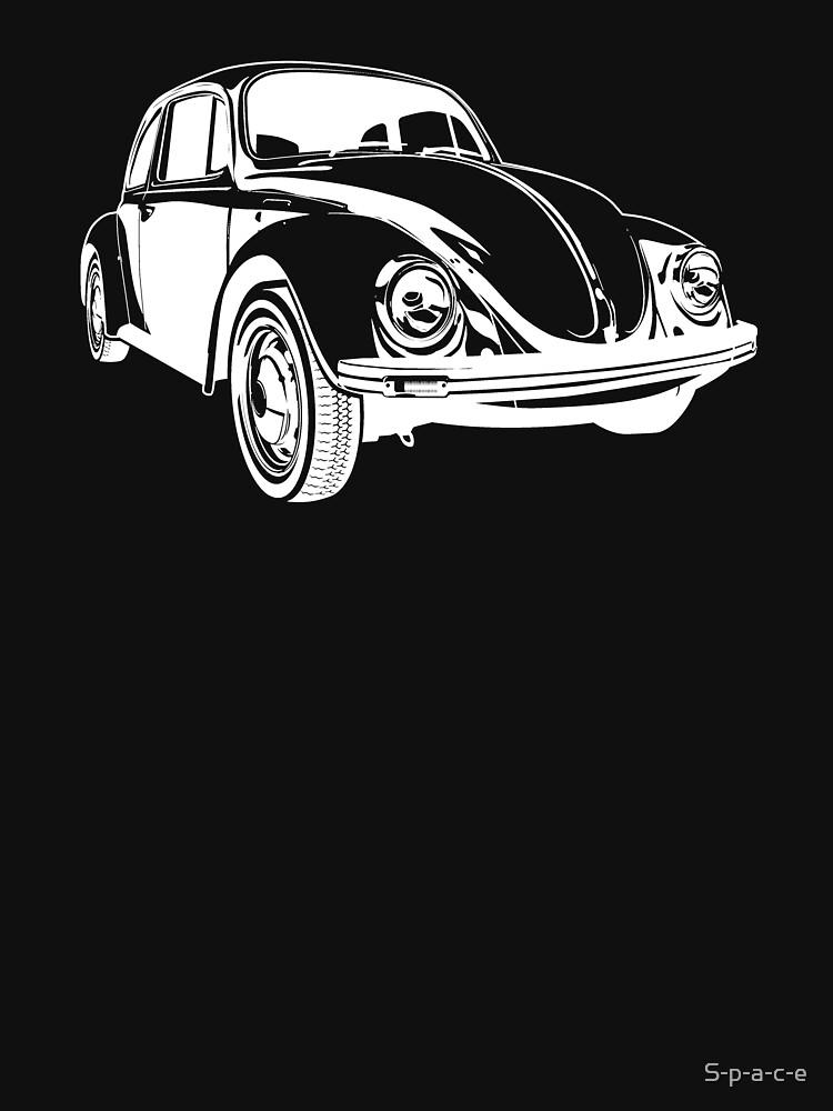 White VW Beetle by S-p-a-c-e