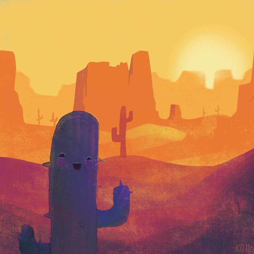 Happy Cactus by LadyBakonArt