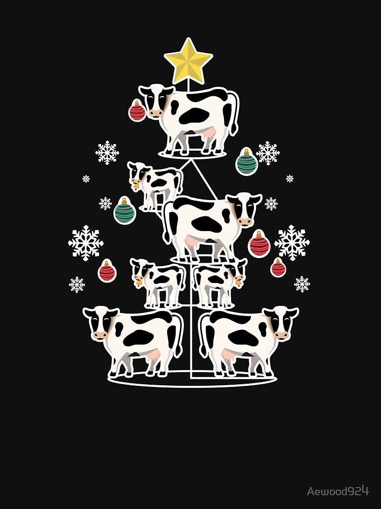 Funny Cow Christmas Gift by Aewood924