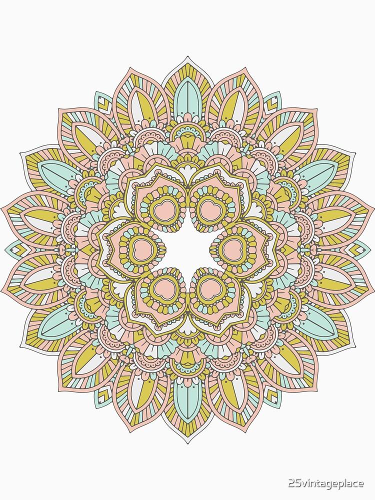 Beautiful Pastel Mandala Design by 25vintageplace