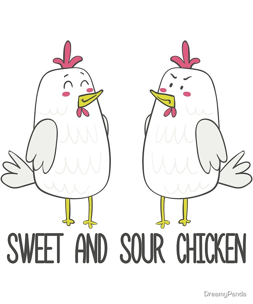 Sweet and Sour Chicken - Funny Chinese Food Chicken Gift by DreamyPanda